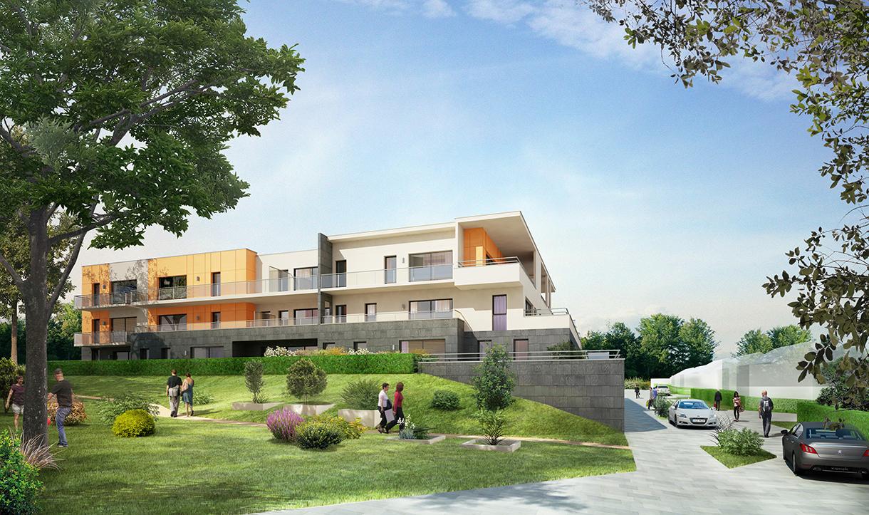 Les terrasses du chapitre bihorel pierre de seine for Bihorel piscine